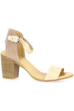 Sandales So Send Nu pieds cuir velours nude(127910424)