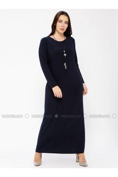 Navy Blue - Crew neck - Unlined - Dresses - Minimal Moda(110331316)