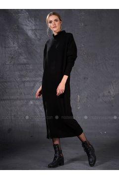Black - Polo neck - Unlined - Dresses - Eda Atalay(110331491)