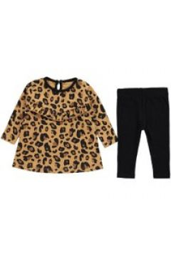 Crafted Long Sleeve Dress Set Baby Girls - Leopard Print(100549632)