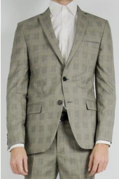 Vestes de costume Kebello Veste de costume a carreaux H Gris(119083535)