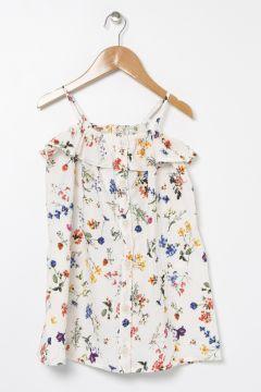 Koton Çiçek Desenli Dökümlü Fırfırlı Elbise(113999161)