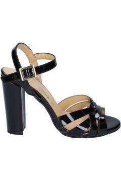 Sandales Olga Rubini sandales noir cuir brillant BS115(115443082)