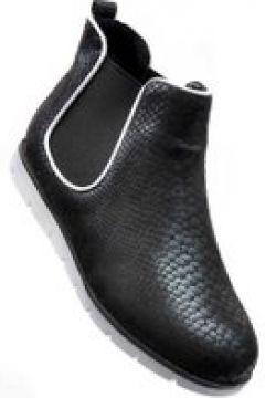 Pantofelek24.pl | Czarne botki sztyblety z gumkami(112082470)