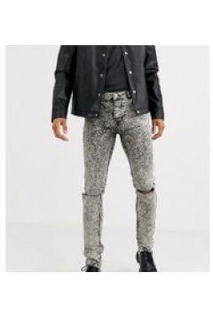 Heart & Dagger - Jeans super skinny grigio lavaggio acido strappati(120252474)