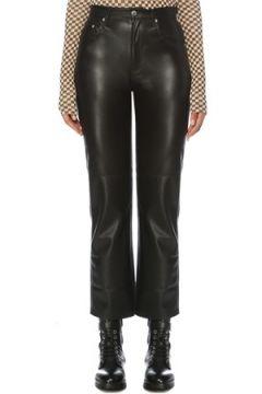 Nanushka Kadın Vinni Siyah Yüksek Bel Suni Deri Pantolon S EU(120885083)