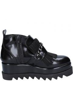 Boots Olga Rubini élégantes noir cuir BX782(115442653)