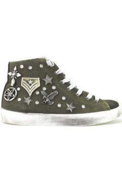 Chaussures Beverly Hills Polo Club POLO sneakers vert daim textile AJ11(115408963)