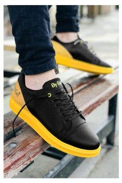 MODA Erkek Siyah-Sarı Spor Ayakkabı(110951683)