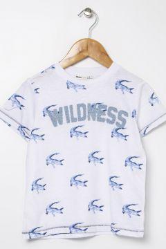 Koton Timsah Desenli ve Baskılı T-Shirt(113999228)