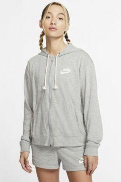 Nike Sportswear Gym Vintage Tam Boy Fermuarlı Kadın Kapüşonlu Üst(118057271)