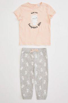 DeFacto Kız Bebek Baskılı Pijama Takımı(119063891)