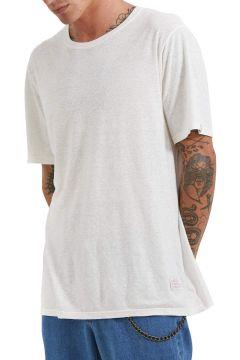 Afends Classic Hemp Standard Fit Kurzarm-T-Shirt - White(114064981)