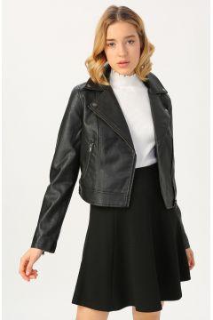 Aeropostale Siyah Deri Kadın Ceket(126231185)