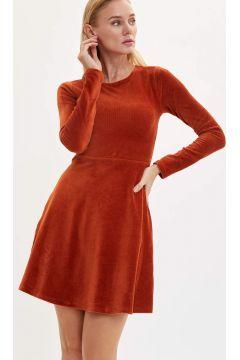 DeFacto Kadın Slim Fit Uzun Kollu Elbise(125919233)