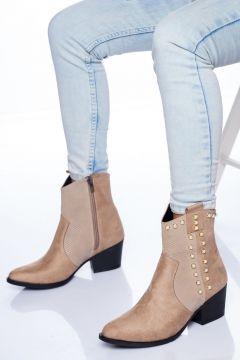 Ayakkabı Frekansı Kadın Bej Süet Bot(119320298)