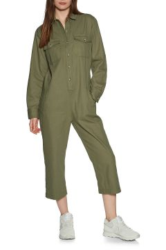 Jumpsuit Femme Brixton Melbourne Crop Overall - Washed Olive(111331786)