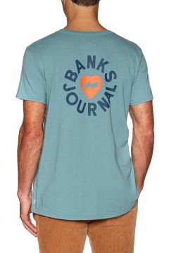 Banks Heart Rings Kurzarm-T-Shirt - Smoke Blue(116373350)