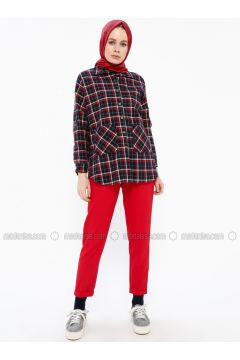 Red - Pants - İroni(110338988)