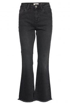 Pzliva Ultra High Waist Flared Jeans Mit Schlag Schwarz PULZ JEANS(114151671)