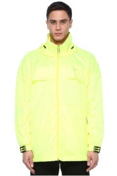 Off-White Erkek Neon Sarı Kapüşonlu Logolu Mont S EU(107433893)