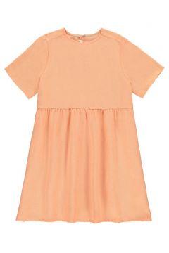 Kleid aus Baumwolle und Leinen- Rosa(117295827)