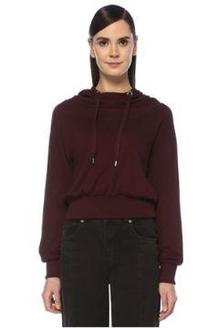 Allsaints Kadın Rita Bordo Kapüşonlu Sweatshirt M EU(107373542)