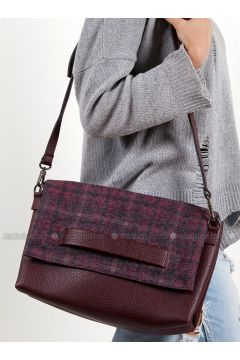 Maroon - Shoulder Bags - Efem(110340281)