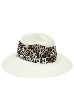 Helene Berman London Kadın Beyaz Fular Detaylı Şapka EU(114438704)