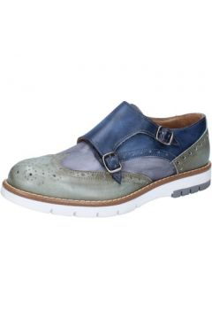 Chaussures Di Mella élégantes bleu cuir vert AB928(115393884)