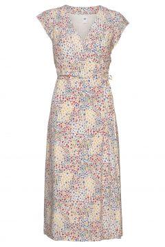 Wrap-Front Midi Dress Kleid Knielang Bunt/gemustert GAP(116334564)