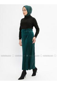 Green - Unlined - Skirt - Ginezza(110332082)