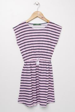 Limon Lacivert - Fuşya Elbise(113996290)