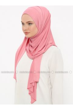 Dusty Rose - Plain - Pinless - Instant Scarf - Ecardin(110333512)