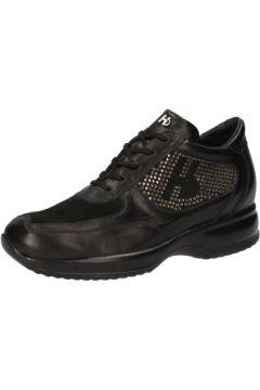 Chaussures Hornet Botticelli BOTTICELLI sneakers noir cuir daim strass AE478(88516500)