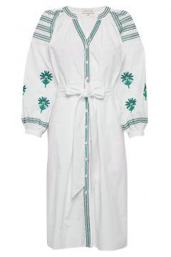 Riley Dress Strandmode Weiß BY MALINA(109011371)