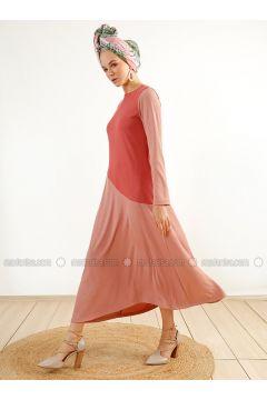 Coral - Crew neck - Unlined - Dresses - Muni Muni(110313153)