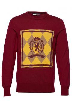 Hcm Argyle Crest Crewneck Sweat-shirt Pullover Rot HILFIGER COLLECTION(114153016)