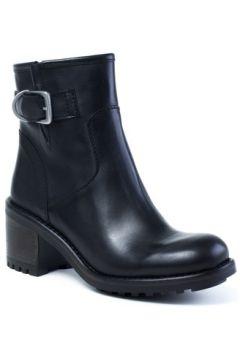Boots E-cow Andreia Crest Cuir Noir(115486816)