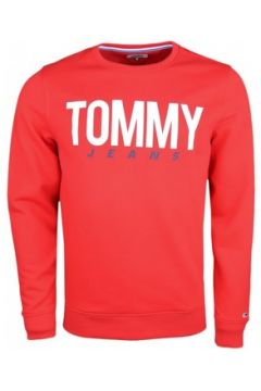 Sweat-shirt Tommy Jeans Sweat col rond rouge régular pour homme(115506643)