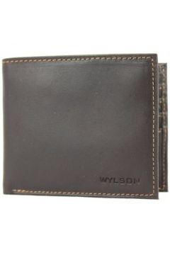 Porte-monnaie Wylson Porte cartes ultra plat en cuir mat Rio Marron(101652882)