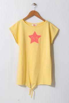 Pink&Orange Kız Çocuk Yıldız İşlemeli Sarı İç Giyim Atlet(113956620)
