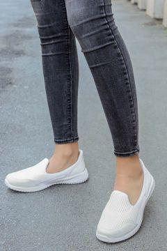 FAST STEP Beyaz Kadın Yürüyüş Ayakkabı 925za1017(117594935)