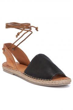 Tergan Kadın Siyah Taba Deri Sandalet 64430j5z(122302221)