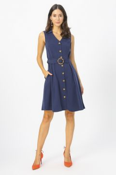 Fabrika Lacivert Elbise(113994122)