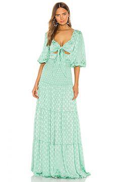 Макси платье satin dot - PatBO(115071886)