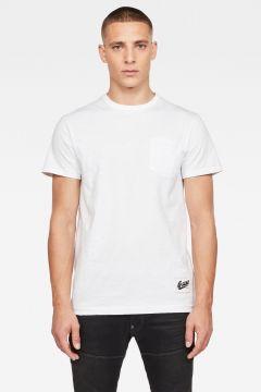 G-Star RAW Men Contrast Pocket T-Shirt White(117927443)