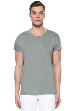 Isabel Marant Erkek Karnaby Haki Basic Keten T-shirt Yeşil L EU(109265330)