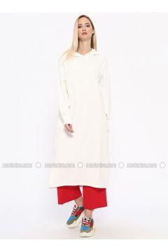 White - Ecru - Cotton - Tunic - Missemramiss(110330953)
