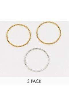 Whistles - Confezione da 3 anelli incisi oro(112975139)